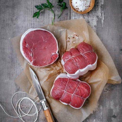 Morceau de viande de veau d'Aveyron et du Ségala IGP et Label Rouge